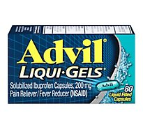 Advil Liqui-Gels Ibuprofen Capsules 200mg Liquid Filled - 80 Count