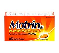 Motrin Ibuprofen Caplets 200 mg Coated - 100 Count
