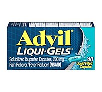 Advil Liqui-Gels Pain Reliever Fever Reducer Liquid Filled Capsule 200mg Ibuprofen - 40 Count