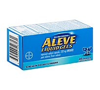 Aleve Naproxen Sodium Tablets 220mg Pain Reliever Fever Reducer - 20 Count