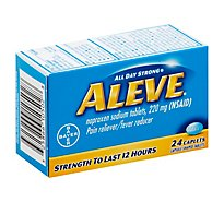 Aleve Naproxen Sodium Tablets 220mg Pain Reliever Fever Reducer - 24 Count