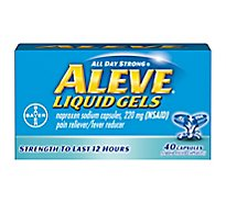 Aleve Naproxen Sodium Tablets 220mg Pain Reliever Fever Reducer - 40 Count
