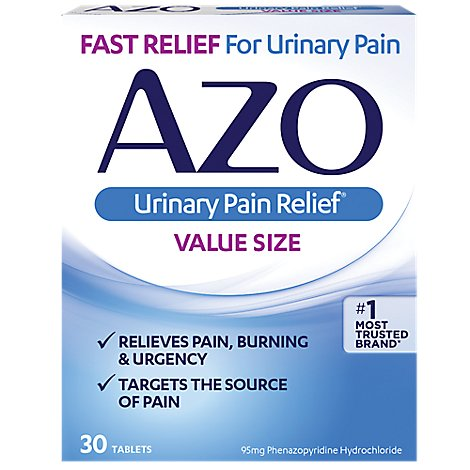 AZO Urinary Pain Relief Value Size Tablets - 30 Count