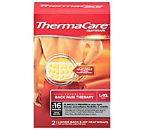 ThermaCare Heatwraps Lower & Back Hip Advanced Back Pain Therapy L-XL - 2 Count