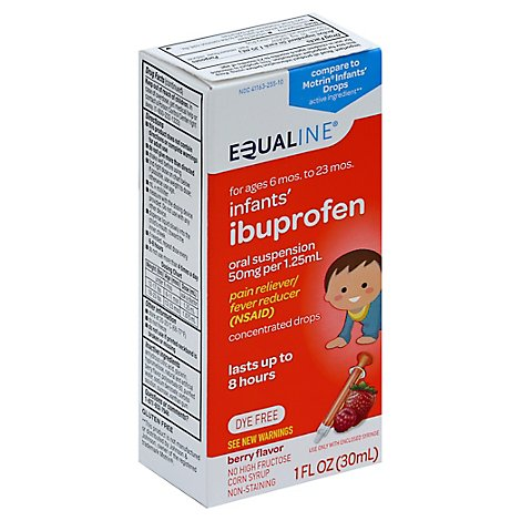 Signature Care Ibuprofen Infant Pain Reliever Fever Reducer 50mg Per 1.25ml Cherry - 1 Fl. Oz.
