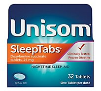 Unisom SleepTabs Nighttime Sleep-Aid 25 mg Tablets - 32 Count