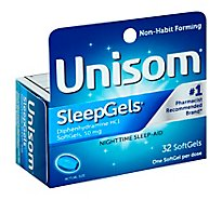 Unisom SleepGels Nighttime Sleep-Aid 50 Mg SoftGels - 32 Count