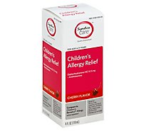 Signature Care Allergy Relief Childrens Diphenhydramine HCI 12.5mg Cherry Flavor - 4 Fl. Oz.