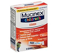 Mucinex Childrens Expectorant & Cough Suppressant Orange Creme Flavor Mini Melts - 12 Count