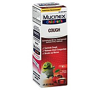 Mucinex Childrens Expectorant & Cough Suppressant Cherry Flavor - 4 Fl. Oz.