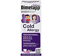 Dimetapp Childrens Cold & Allergy Grape Flavor - 4 Fl. Oz.