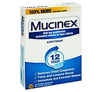 Mucinex Expectorant 12 Hour 600 mg Tablets - 40 Count