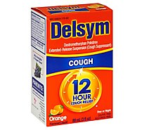 Delsym Cough Suppressant Cough Relief 12 Hour Orange Flavored - 3 Fl. Oz.