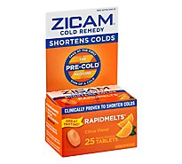 Zicam Rapidmelts Cold Tablets Citrus - 25 Count