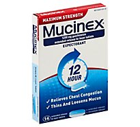 Mucinex Expectorant 12 Hour Maximum Strength 1200 mg Tablets - 14 Count