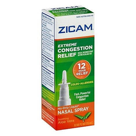 Zicam Congestion Relief Extreme No-Drip Liquid Nasal Gel - 0.5 Fl. Oz.
