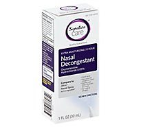 Signature Care Nasal Spray Decongestant Moisturizing 12 Hour - 1 Fl. Oz.