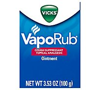 Vicks VapoRub Cough Suppressant Topical Analgesic Ointment - 3.53 Oz