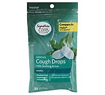 Signature Care Cough Drops Menthol Soothing Action Original - 30 Count