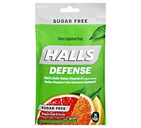 HALLS Defense Supplement Drops Sugar Free Assorted Citrus - 25 Count