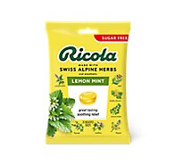 Ricola Throat Drops Herb Lemon Mint Sugar Free - 19 Count