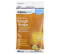 Signature Care Cough Drops Menthol Soothing Action Honey Lemon - 30 Count