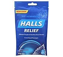 HALLS Cough Suppressant Drops Triple Soothing Action Menthol-Lyptus - 30 Count