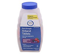 Signature Care Extra Strength Mixed Berry Antacid Calcium Tablets - 200 Count