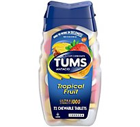 Tums Antacid Tablets Tropical Fruit Ultra - 72 Count
