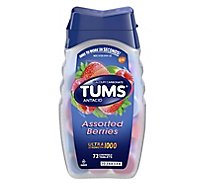 Tums Antacid Tablets Chewable Ultra Strength 1000 Assorted Berries - 72 Count