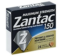 Zantac 150 Acid Reducer Tablets Maximum Strength 150 mg - 24 Count