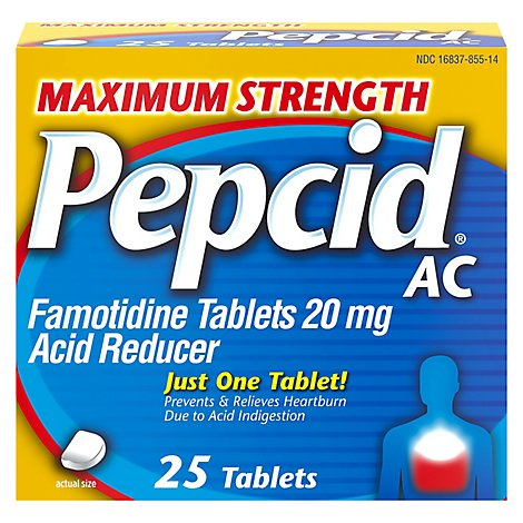 Pepcid Ac Acid Reducer Tablets Maximum Strength 20 mg - 25 Count