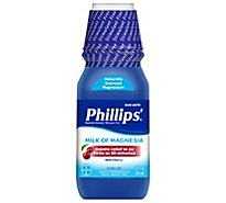 Phillips Laxatives Milk Of Magnesia Cramp Free Wild Cherry - 12 Fl. Oz.