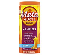 Metamucil Fiber Supplement 4 in 1 MultiHealth Powder Orange Smooth Sugar-Free - 15 Oz