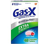 Gas-X Extra Strength Cherry Tablets - 48 Count