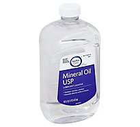 Signature Care Mineral Oil USP Lubricant Laxative - 16 Fl. Oz.
