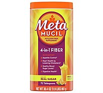 Metamucil Fiber Supplement 4 in 1 MultiHealth Powder Orange Smooth - 30.4 Oz