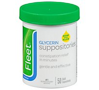 Fleet Glycerin Suppositories Adult - 50 Count