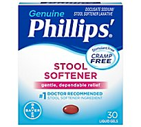 Phillips Stool Softener Liquid Gels Cramp Free - 30 Count