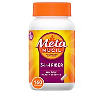 Metamucil Fiber Supplement 3 In 1 MultiHealth Capsules - 160 Count