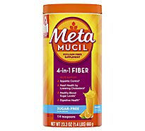 Metamucil Fiber Supplement 4 in 1 MultiHealth Powder Orange Smooth Sugar-Free - 23.3 Oz