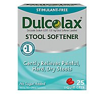 Dulcolax Stool Softener 100 mg Liquid Gels - 25 Count