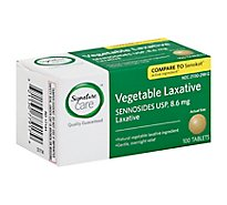 Signature Care Laxative Vegetable Sennosides USP 8.6mg Tablet - 100 Count