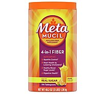 Metamucil Fiber Supplement 4 in 1 MultiHealth Powder Orange Smooth - 48.2 Oz
