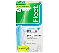 Fleet Enema Saline Laxative Twin Pack - 2-4.5 Fl. Oz.