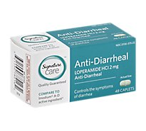 Signature Care Anti Diarrheal Loperamide HCI 2mg Caplet - 48 Count