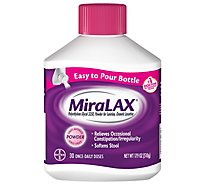 MiraLAX Powder For Constipation Relief 30 Dose Easy to Pour Bottle - 17.9 Oz