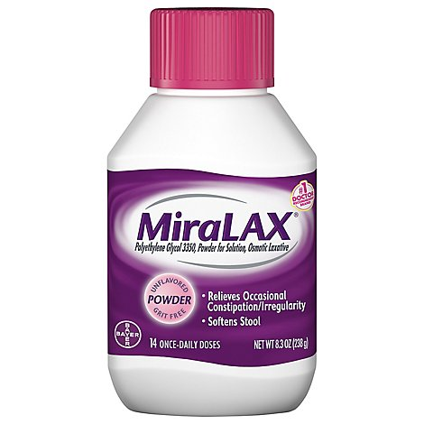 MiraLAX Powder For Constipation Relief 14 Dose - 8.3 Oz