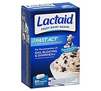 Lactaid Fast Act Lactase Enzyme Supplement Caplets - 60 Count