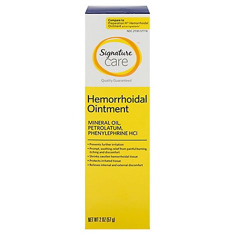 Signature Care Hemorrhoidal Ointment - 2 Oz